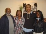 From left to right, Robert Campbell (father of Theresa Campbell), wife Gladys, Antonio Hawks (son of Theresa), Angela Ca